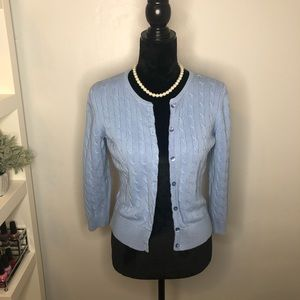 ANN TAYLOR LOFT Blue Button Down Cardigan